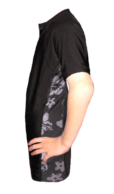 Kids Aloha Swim Shirt Black