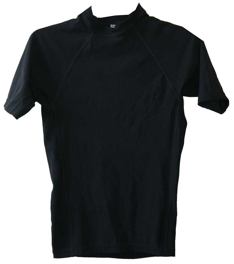 Boys Swim Shirt Black