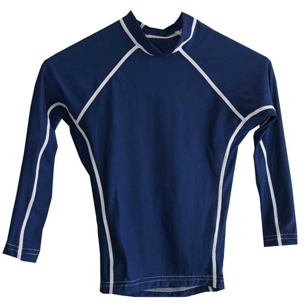 Kids Long Sleeve Navy Rash Vest