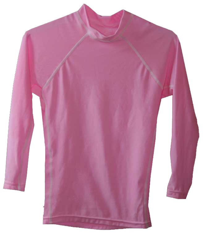 Kids Long Sleeve Pink Swim Shirt