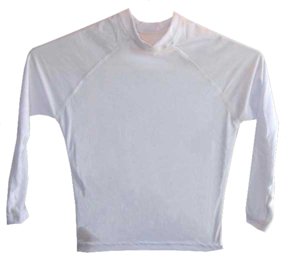 Kids Long Sleeve White Rash Vest