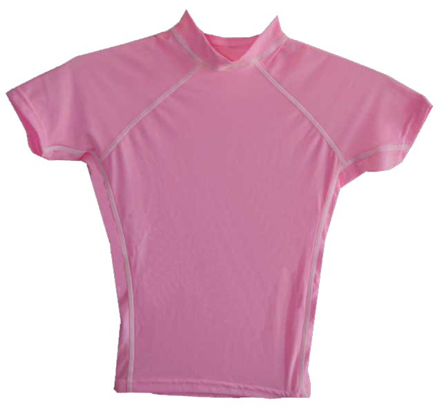 Boys Swim Shirt Pink