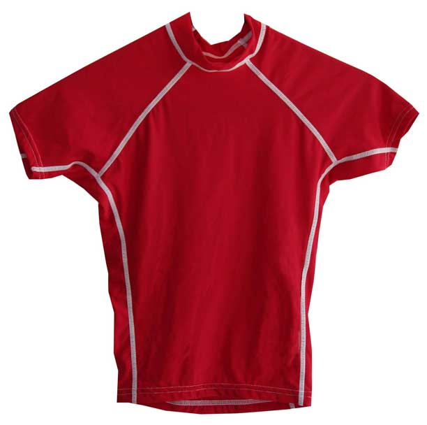 Kids UV Swim Shirt Red