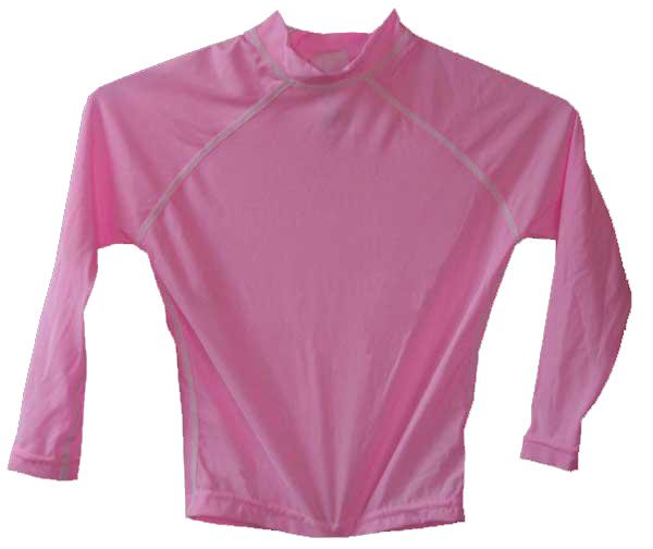 Toddler Swim Shirt Long Sleeve Pink