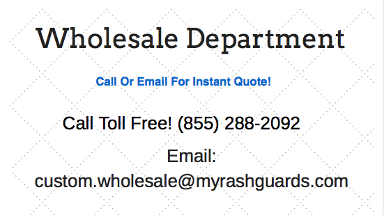 Wholesale Contact Information